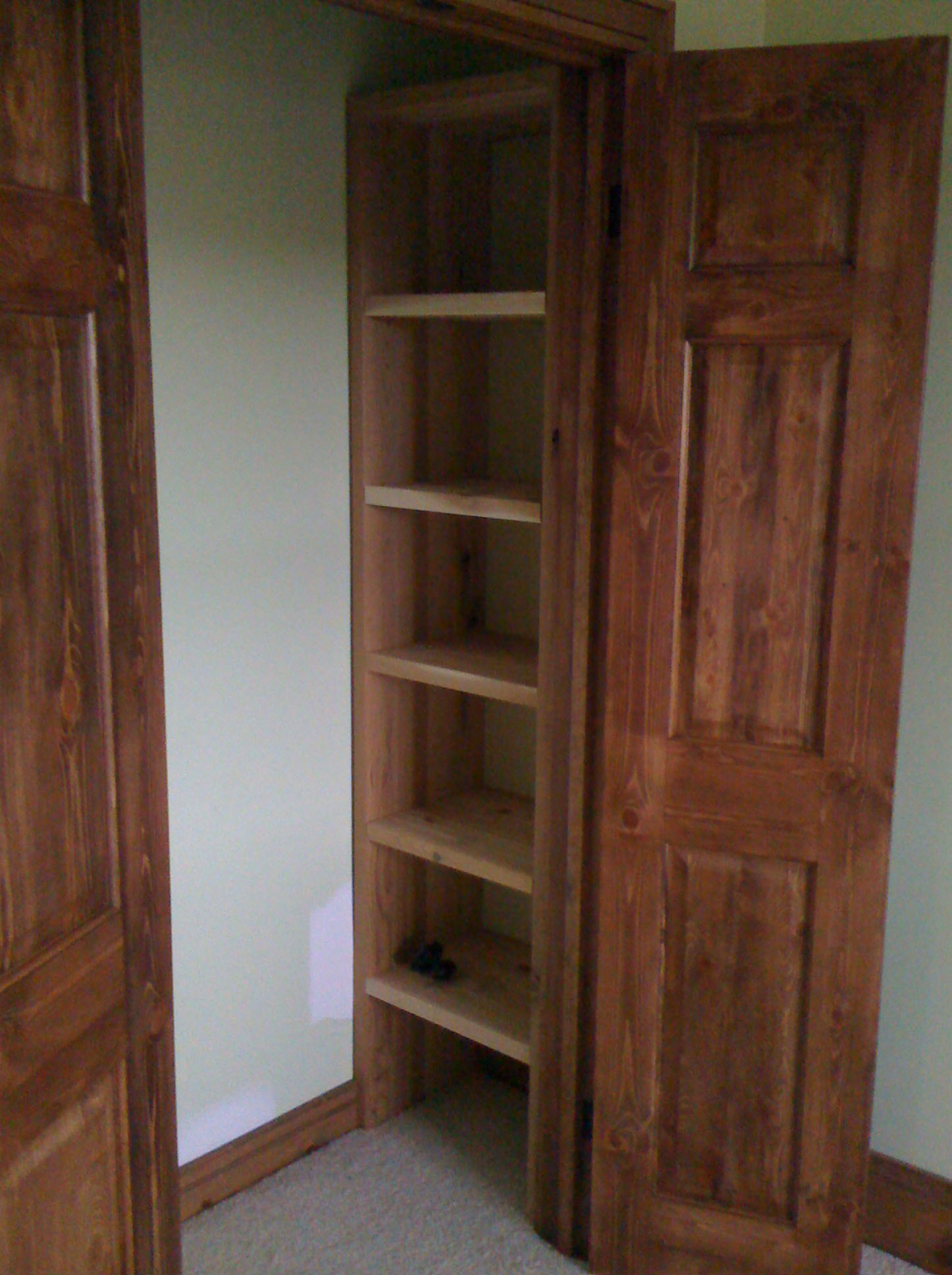 wooden closet cabinet