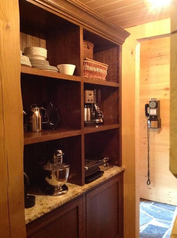 wooden vintage closet organizer