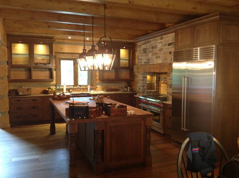 clean wooden kitchen