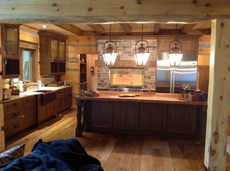 dark wooden kitchen