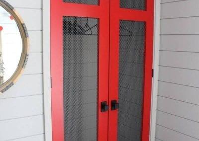 red themed door
