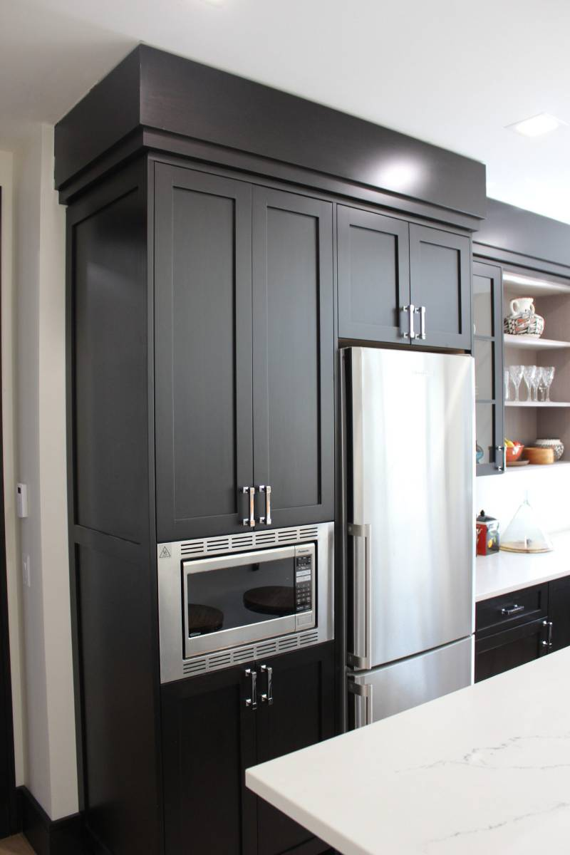 dark custom kitchen cabinetry