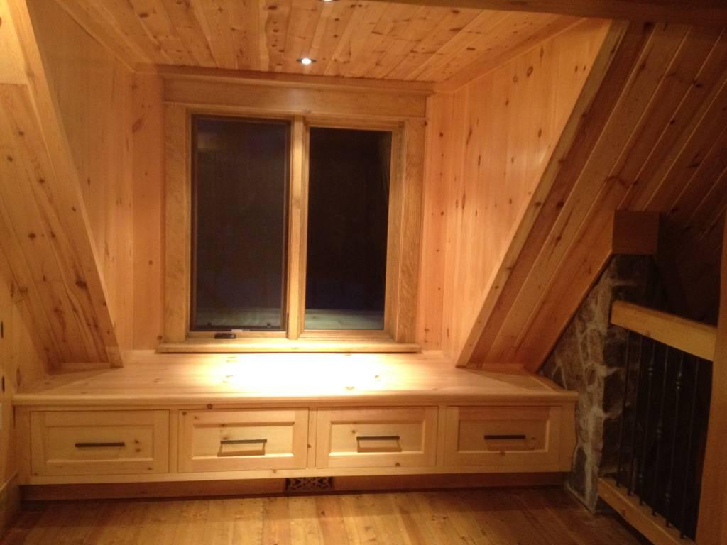 wooden attic cabinet
