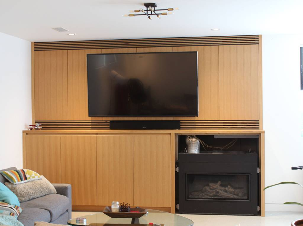 wooden cabinet set