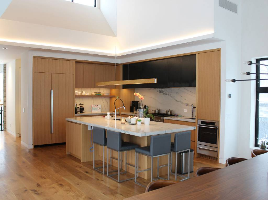 Wooden themed kitchen design