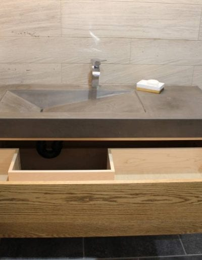 custom wooden sink