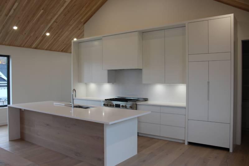 white-themed kitchen