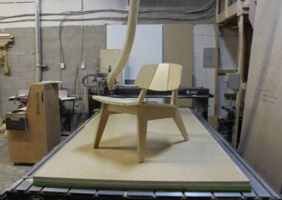 creating wooden chair